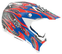 AGV AX-8 Evo Flame red/blue kypärä