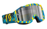 Scott Hustle MX ajolasit strobe blue/yellow silver chrome works
