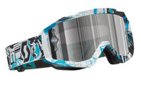 Scott Hustle MX ajolasit vice black/blue silver chrome works
