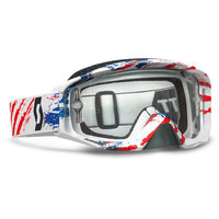 Scott Hustle SMU MX MXDN white/red clear works