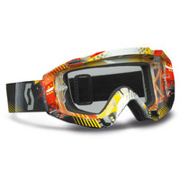 Scott Hustle MX goggle tangent red/yellow clear works