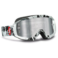 Scott Hustle MX goggle tiger black/white Si gogglelver chrome works