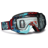 Scott Hustle MX goggle vinyl blue/red clear works