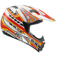AGV MT-X Point white/red/yellow kypärä