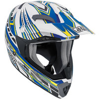 AGV MT-X Point white/blue/yellow kypärä